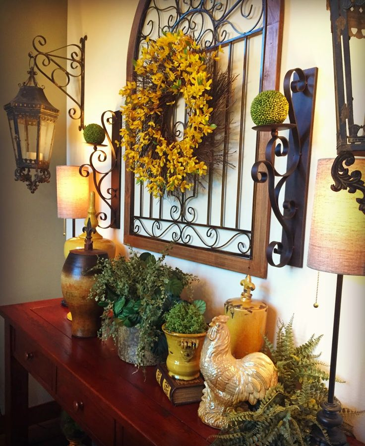 344 best Tuscan Decor images on Pinterest | My house, Centerpiece ...