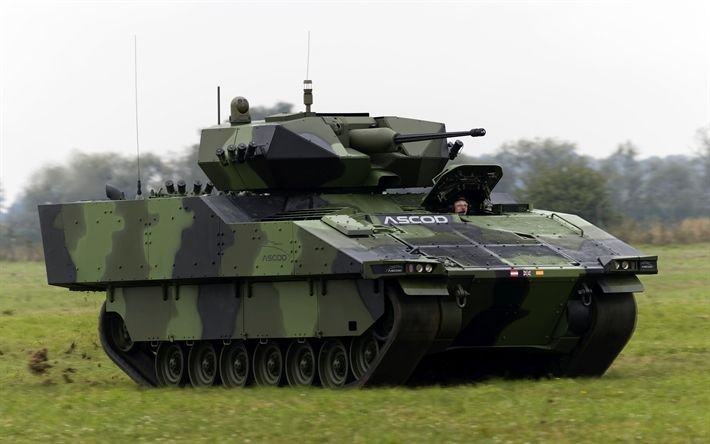 Télécharger fonds d'écran ASCOD, véhicule de combat d'infanterie, des véhicules militaires, Autrichien des véhicules blindés, espagnol véhicules blindés