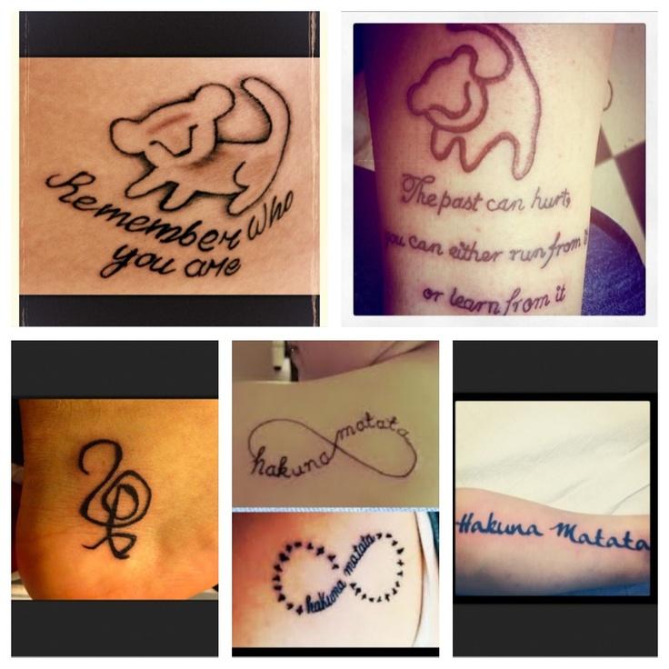 Lion King Tattoos #Hakuna Matata | Raaandooom | Pinterest