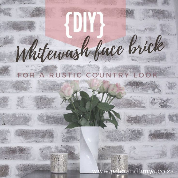 DIY Whitewashed facebrick.