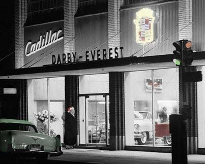 Ford Dealership San Antonio Tx >> Darby Everest Cadillac. Oklahoma City - 1955 | Vintage car dealers & gas stations | Pinterest ...