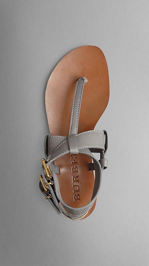 Sandalias de piel con detalle de hebilla | Burberry