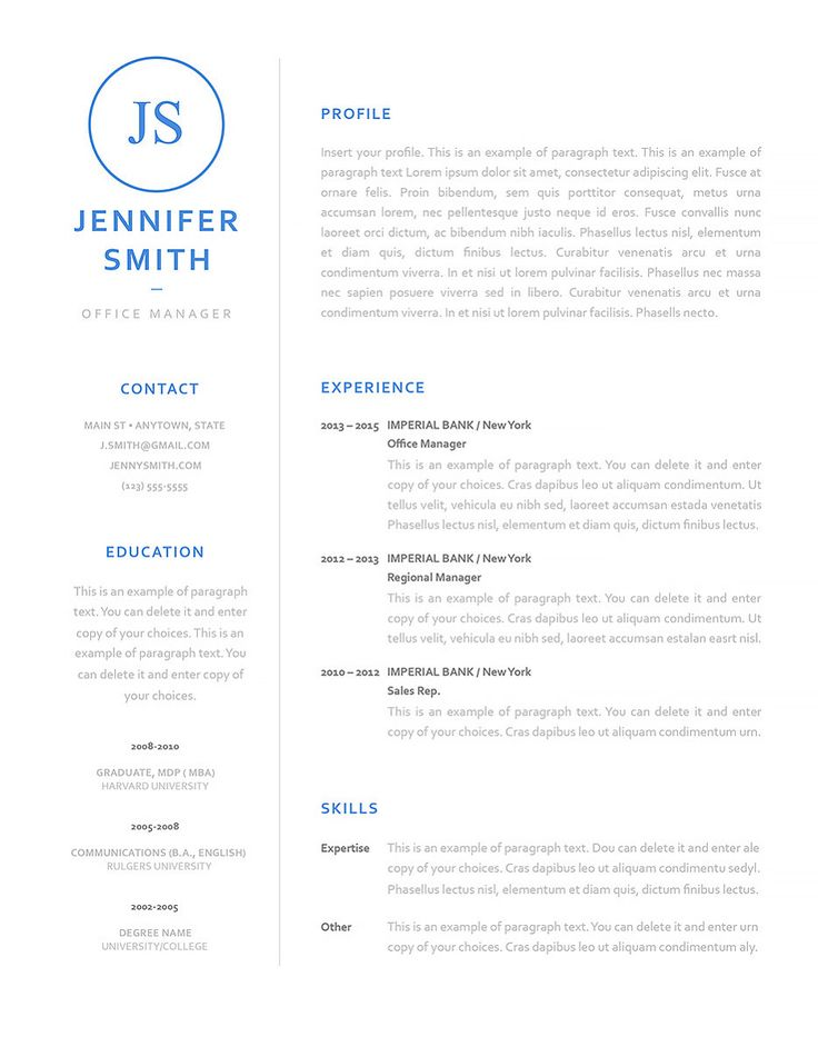 108 best MS Word Resume Templates images on Pinterest Resume - resume format on microsoft word 2010