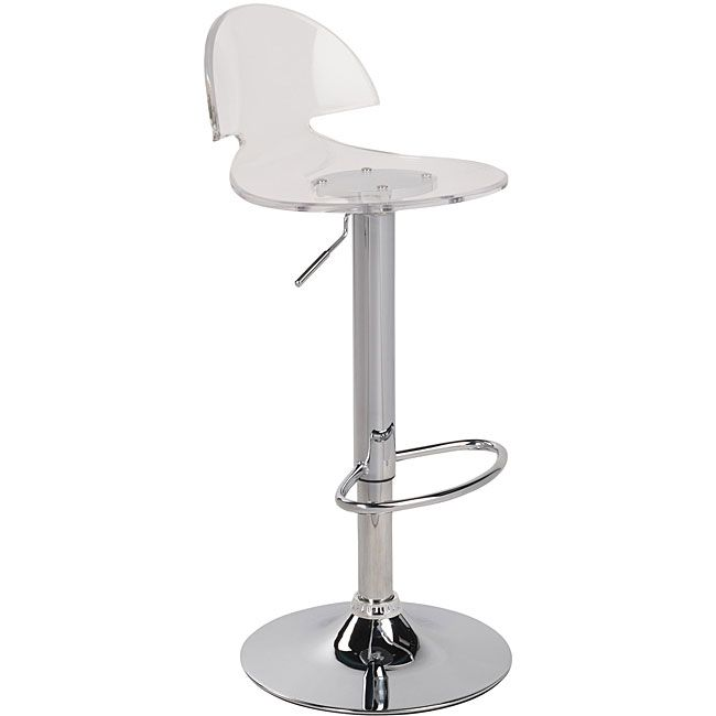 This Clear Acrylic Bar Stool Melds Effortlessly Into A Dining Area Or  Kitchen With Its Lustrous