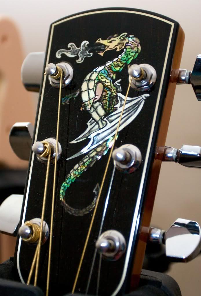 Guitar headstock inlay