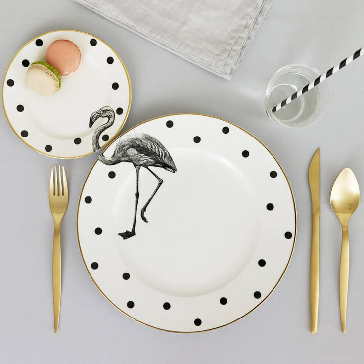 flamingo plate set by yvonne ellen | notonthehighstreet.com
