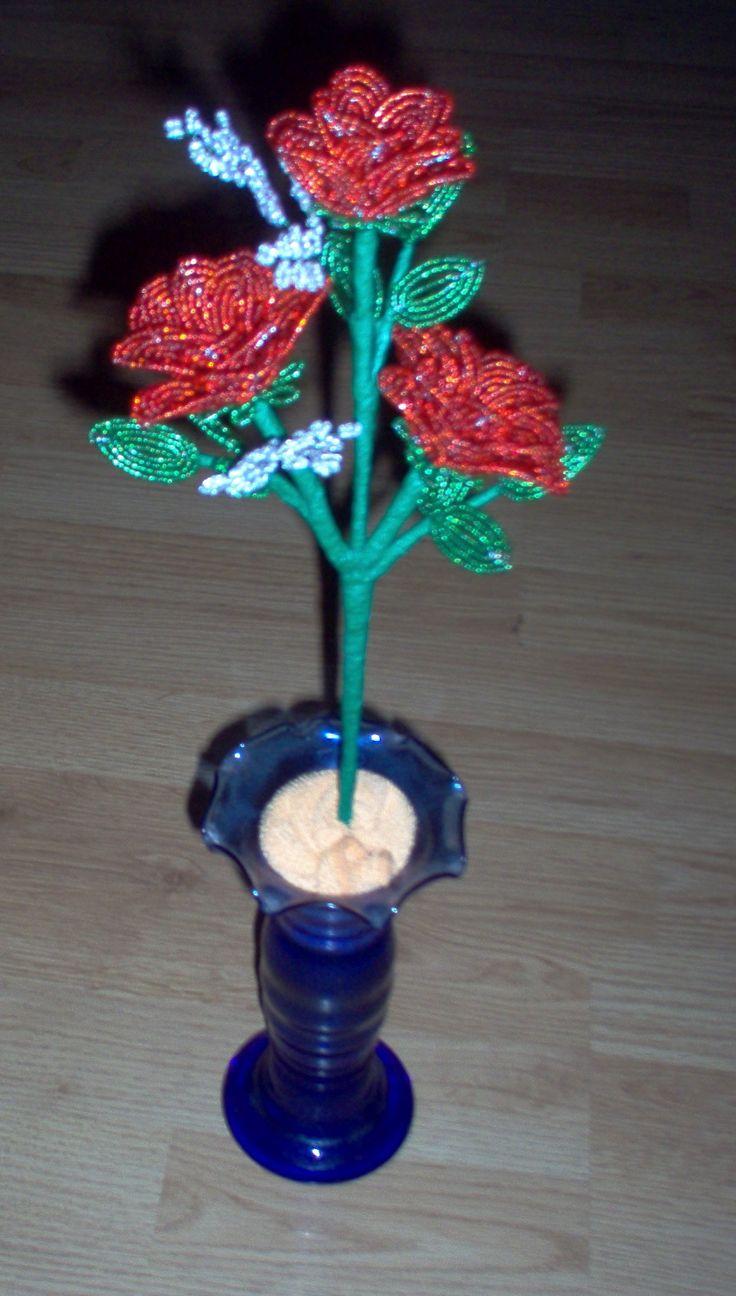 rózsa csokorban