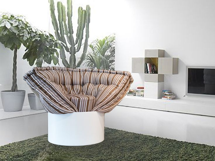 The Huggy convertible armchair by Lago is made up of a cone-wrapped mattress and threaded into a small cylindrical base that creates an enveloping design seat with soft armrests. By pulling the base, the mattress automatically rolls out and becomes a comfortable emergency bed, while the base turned upside down serves as a useful nightstand. Huggy is the perfect solution for your vacation homes, enriching Living thanks to its unique design and you can invite to stay an unexpected friend! Buy…