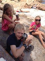 The ecococoon stainless steel cups on holiday in La Maddalena Italy...the perfect travel companion!