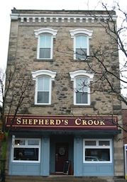 Shepherd's Crook - Georgetown    The Shepherd's Crook is a traditional pub-restaurant in the heart of downtown Georgetown, near the intersection of Main and Mill Streets. It's housed in a designated stone building, erected in 1879.     It's a place to meet friends and have a chat - and there's no television set to distract you from the craic. We serve good food, for good value.