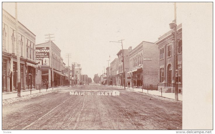 RP: Main Street (dirt) , EXETER , Ontario , Canada , 00-10s Item number: 272329539  - Delcampe.com