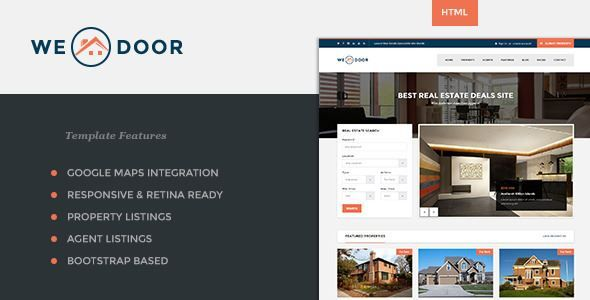 ThemeForest - Wedoor - Responsive Real Estate HTML Template  Free Download
