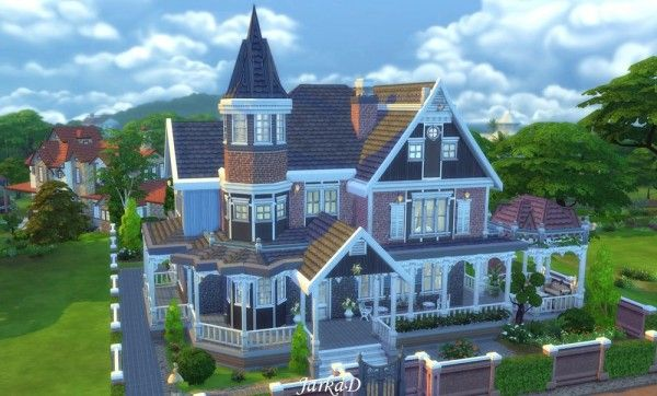 Jarkad sims 4 victorian house no 1 sims 4 downloads for Custom built victorian homes