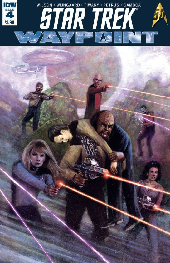 """Cover of Star Trek: Waypoint 4-This month brought comic and star trek fans alike issue number 4 of IDWs """"Star Trek:Waypoint"""" an anthology series of stand-alone stories to highlight different facets of the 50-year franchise."""