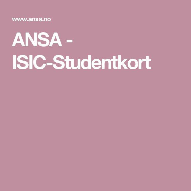 ANSA - ISIC-Studentkort