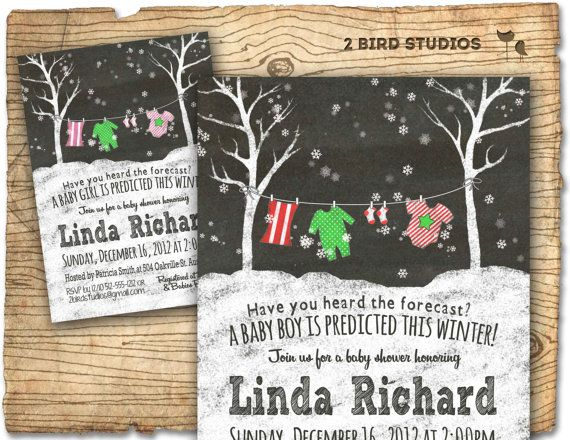Winter baby shower invitation for winter themed baby shower- DIY printable invite also for couples shower