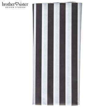Black & White Striped Gift Tissue