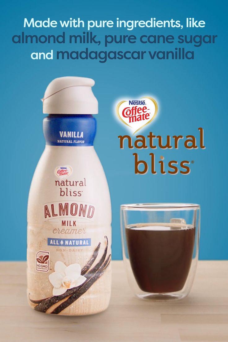 Almond milk pure cane sugar and madagascar vanilla make
