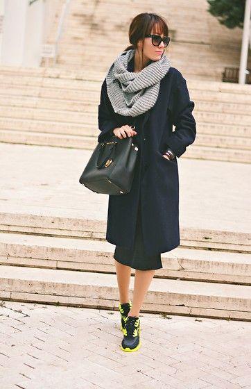 Nike Sneakers, Michael Kors Bag, H&M Scarf, Prada Sunnies