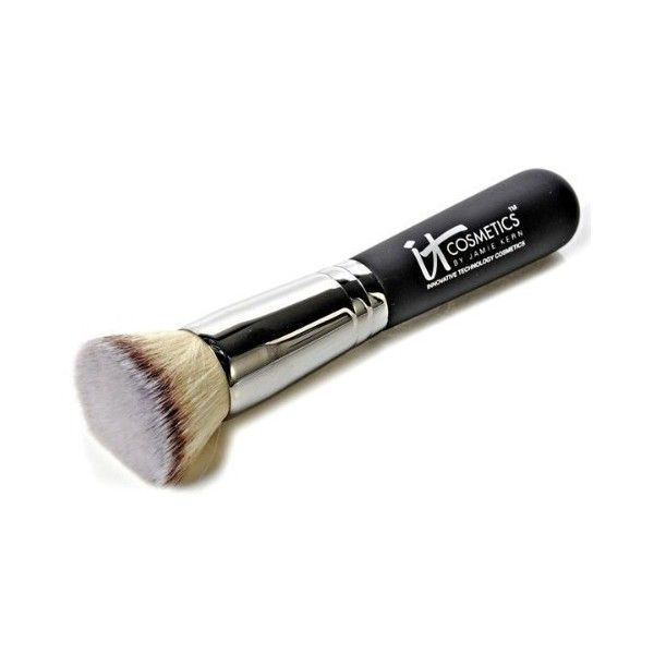 It Cosmetics Heavenly Luxe Buffing Airbrush Foundation Brush ❤ liked on Polyvore featuring beauty products, makeup, makeup tools, makeup brushes, face brush, it cosmetics, foundation makeup brush, it cosmetics makeup brushes and face makeup brushes