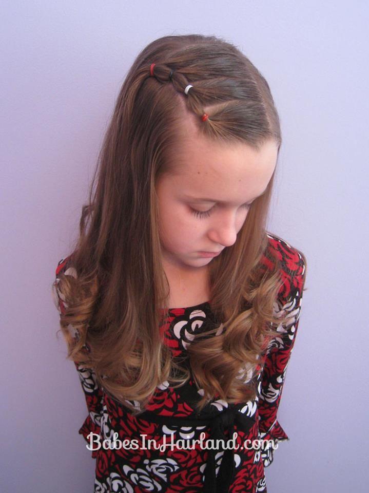 Dulce peinado para niñas.