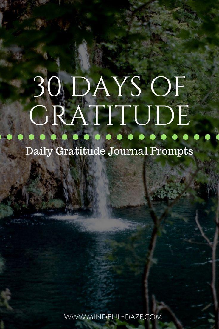 30 Days Of Gratitude Gratitude Journal Prompts Gratitude
