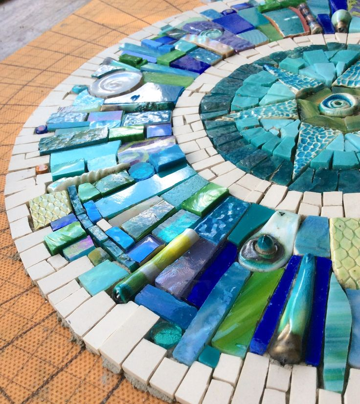 undefined Unfinished as yet, but, the most incredibly beautiful masterpiece from the talented hands of mosaic artist Siobhan Allen. How incredibly flattered do I feel??!!! X:O)
