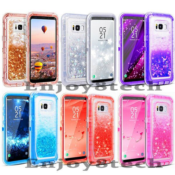 best cheap b5174 e1c55 Blingbling Glitter Defender Phone Case For Samsung Galaxy S8 Clip ...