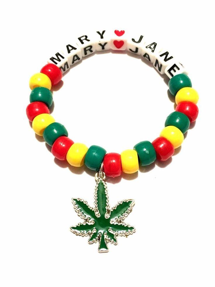 Rave Kandi Bracelet- Weed Charm  | eBay