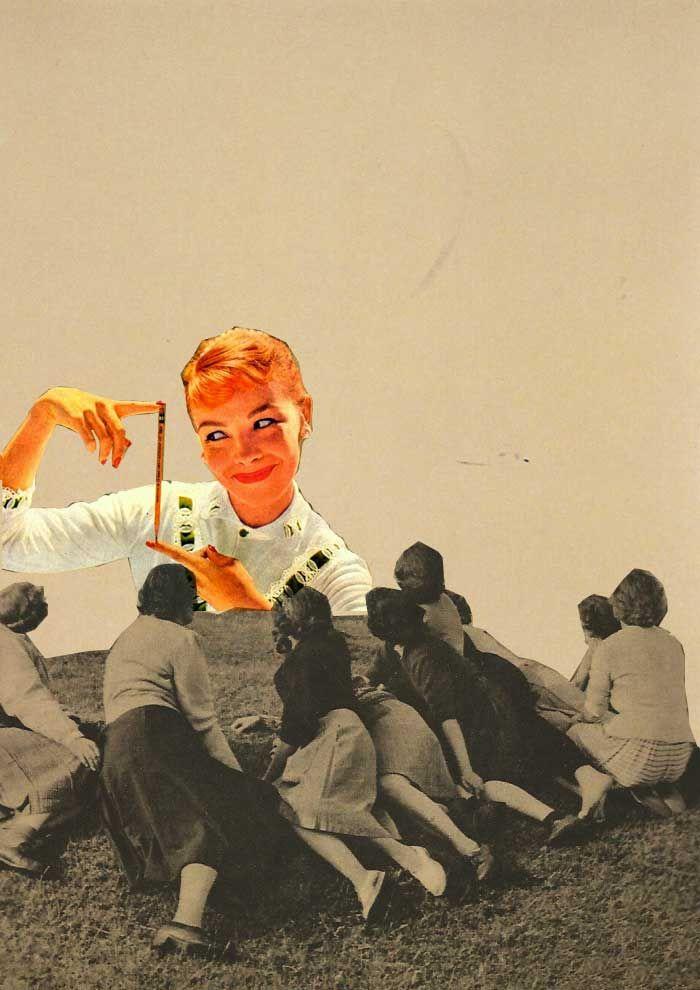 Rhed Fawell The Smug Modern Woman. Collage