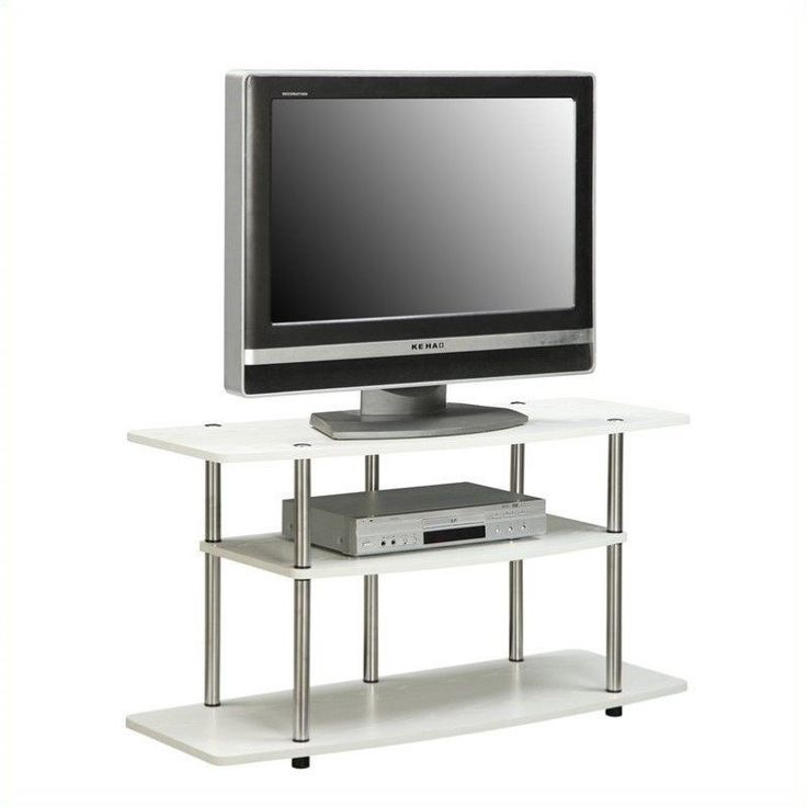 The Designs2Go 3 Tier Wide TV Stand is the perfect TV stand for the modern living room. This modern white TV stand features three large shelves to store your media items AFFILIATE LINK