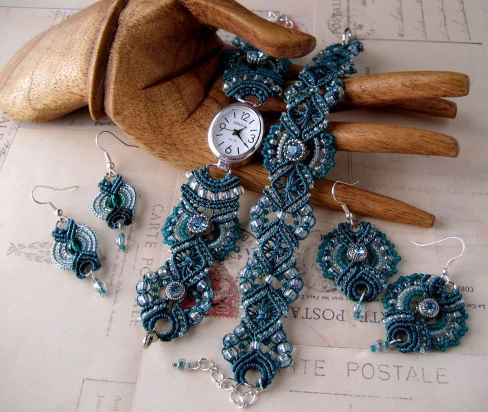 macrame set macrame knots beaded macrame jewelry knotted macrame ...