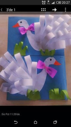 Swan craft for kids or Mother Goose.