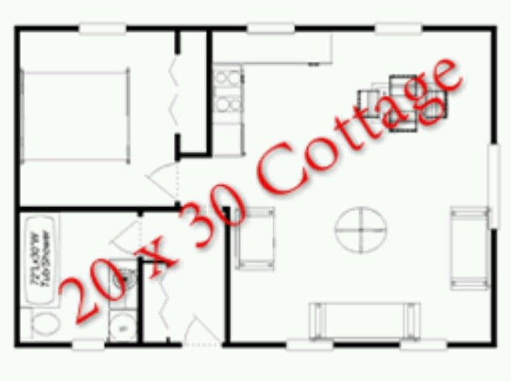 20x30 guest house plans guest pool houses pinterest for Small house design layout
