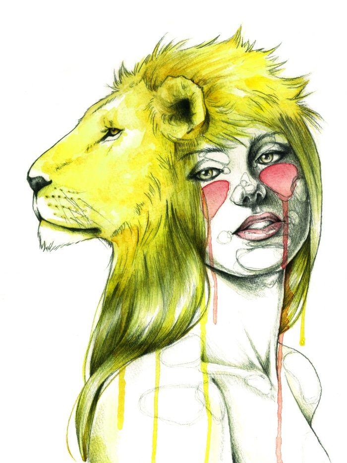 знак зодиака лев рисунок на лице забудьте поздравить