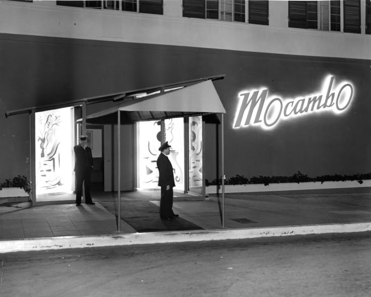 Exterior of the Sunset Strip nightclub Mocambo.