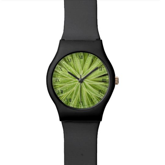 Sparkling Drops Watch by www.zazzle.com/htgraphicdesigner* #zazzle #gift #giftidea #wrist #wristwatch #watch #green #plant #nature