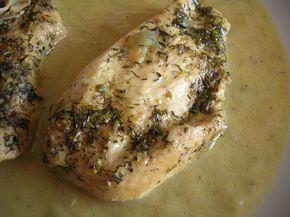 Pechugas de pollo a las hierbas en olla express. 250cal/ rac