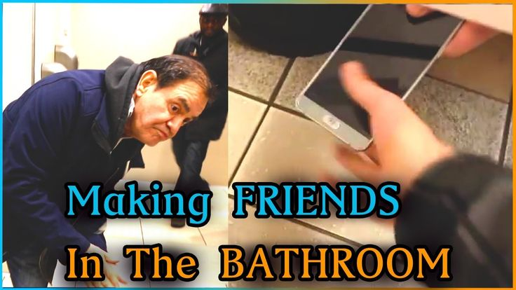 MAKING FRIENDS IN THE BATHROOM Experiment (GONE WRONG)