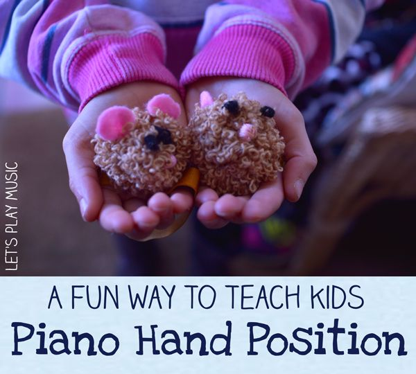 How to teach kids piano hand position in a fun and engaging way with a little furry friend!