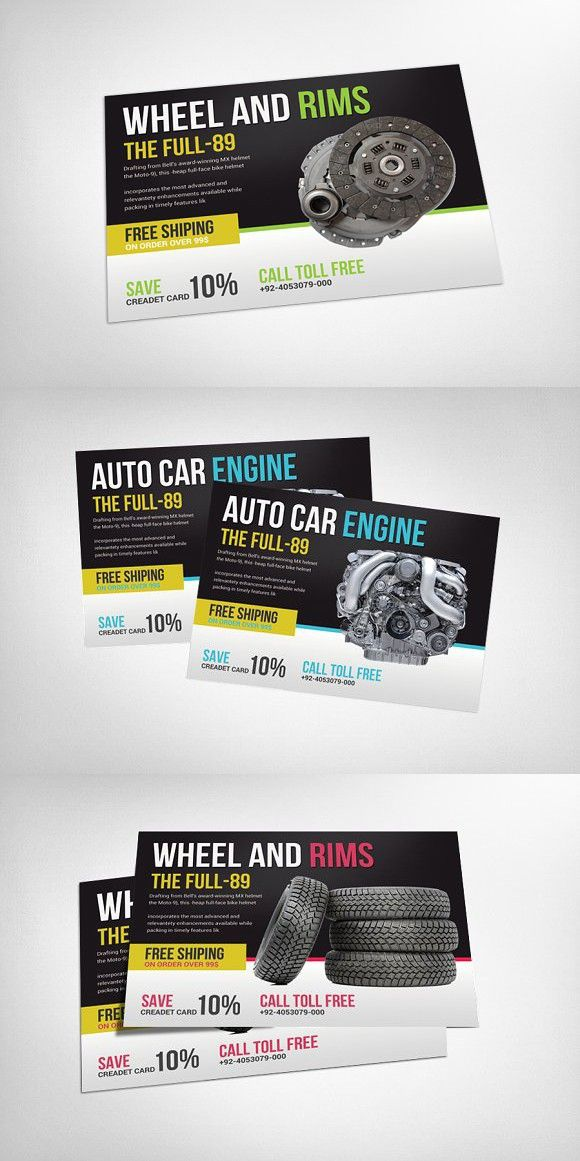 Auto Repair Business Flyer Template A4 Flyer Spareparts FLAYERS