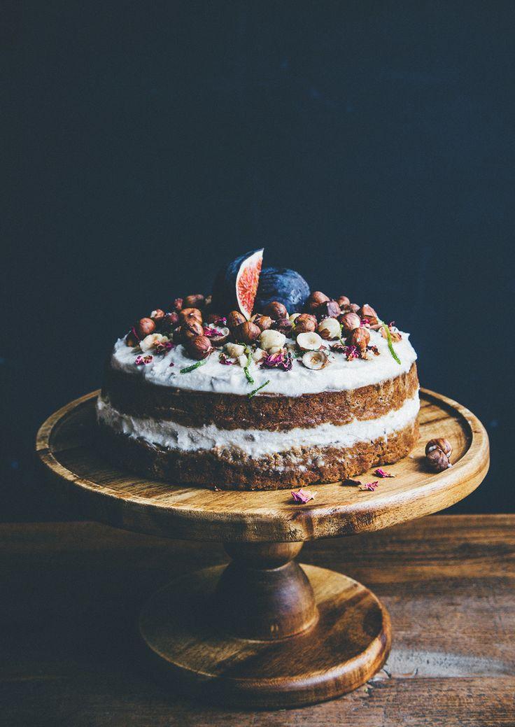 Rose, lime & chai cake with banana and hazelnuts - a yoga cake! — Nourish Atelier