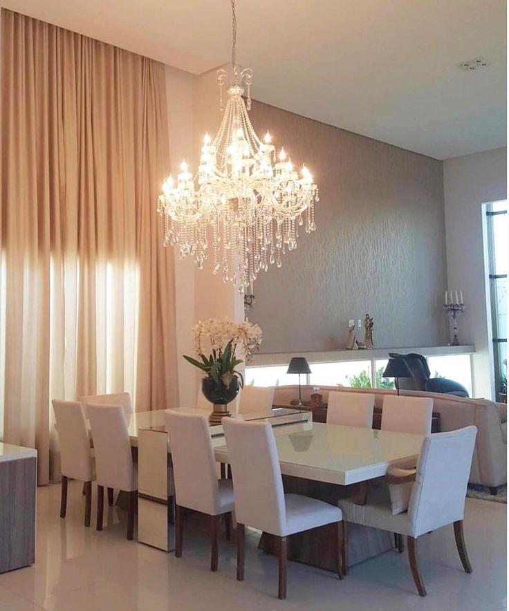 #homeidea | Sala glamourosa e bela. Amei! inspiração via @designdecor Projeto Debora Simony