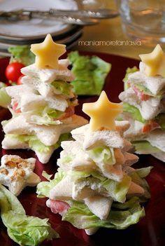alberelli di pancarrè farciti, antipasti natalizi #Natale