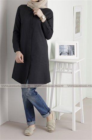 Allday Tunik Gömlek 50427 Siyah