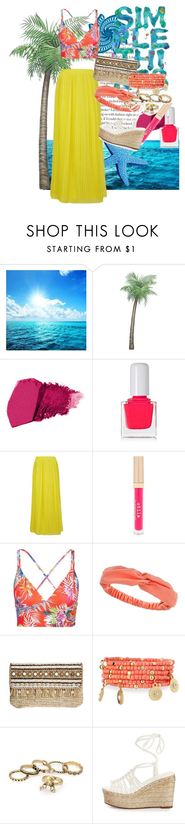 """Tropical outfit"" by abbymadan ❤ liked on Polyvore featuring tenoverten, BOSS Orange, Stila, Vitamin A, Dorothy Perkins, Skemo, Emily & Ashley and Chloé"