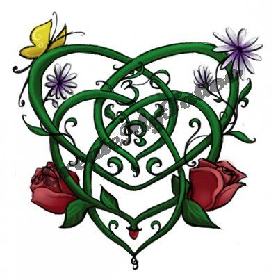Celtic Knot Tattoo For Motherhood - Bing Images. I wouldn't want the flowers or butterflies