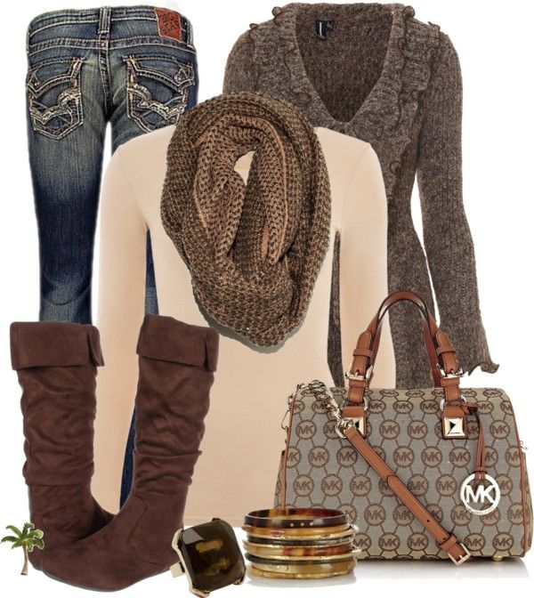 """""""MK Bag"""" by cindycook10 on Polyvore love this look for fall"""