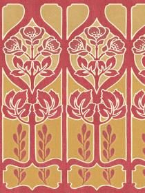 Decorate The Interior Walls Of Home And Office By Using This Wallpaper  Company Red Gold Large Trellis Border Sample.