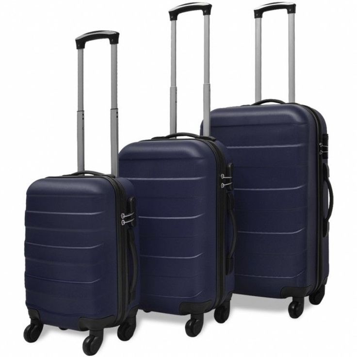 Travel Luggage Set 3 Piece Trolley Travel Bag Practical Storage Durable Security